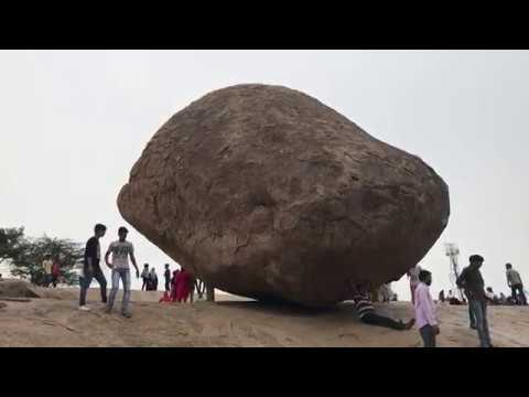 The Mystery of Krishna's Butter Ball - Mahaballipuram