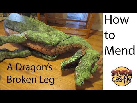 How to repair a broken leg on a Dragon 2