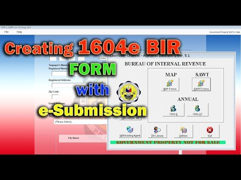 BIR 1604e Form with e-Submission Complete and Detailed Step By Step