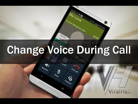 How to change voicE DURING CALL ON ANDROID How to change voicE DURING CALL