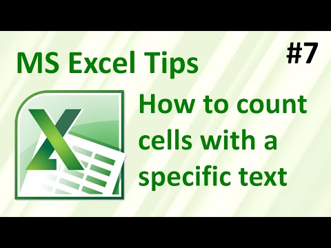 Excel: how to count cells with specific text
