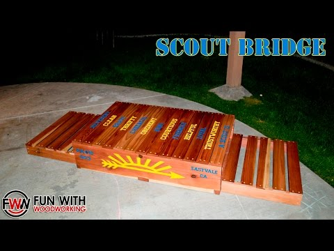 How to build a Cub Scout Bridge