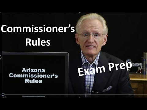 50 Commissioners Rules: Arizona Real Estate License Exam Prep