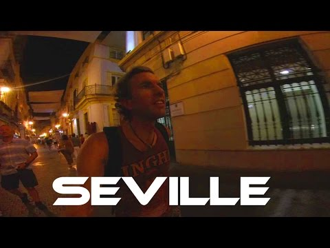 SEVILLE, SPAIN: Walking Through the Streets at Night