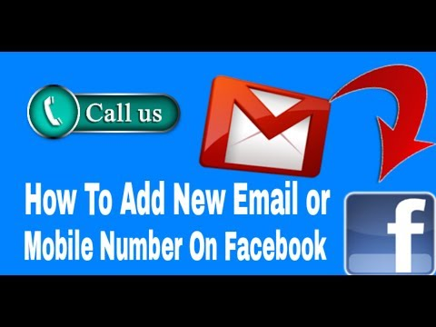 How to set new Email or Mobile Number on Facebook Account