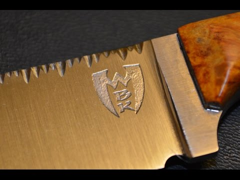 How to put a custom logo on your knife step by step