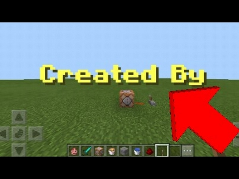 How To Make Command Block Text!! 1.0.5 (Minecraft PE)