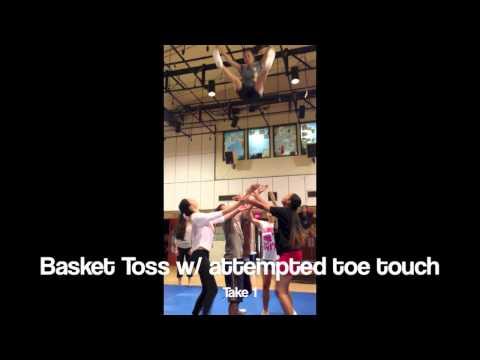 Cheer Stunts: Basket Toss w/ Toe Touch