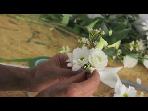 DIY Wedding Flowers - How to make a wrist corsage by Campbell's Flower School