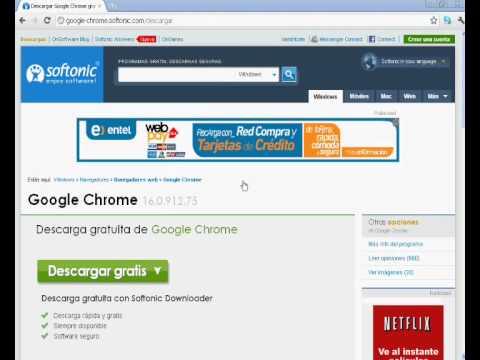 como descargar el google chrome.wmv