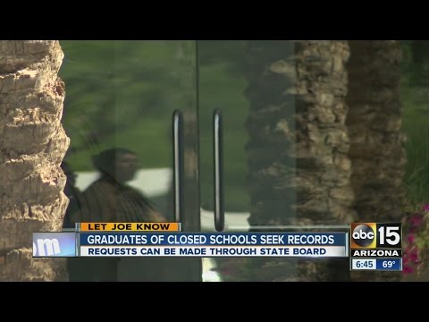 Graduates of closed schools seek records
