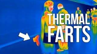Farts on Thermal Camera - People caught farting!