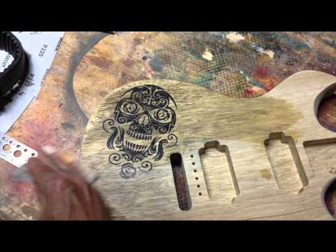 How To Inlay A Design Into A Guitar Body