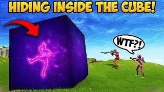 *NEW TRICK* GET INSIDE THE CUBE! - Fortnite Funny Fails and WTF Moments! #303