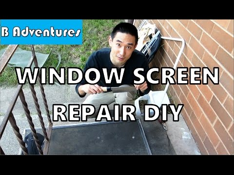 How to Replace Window Fly Screen, DIY