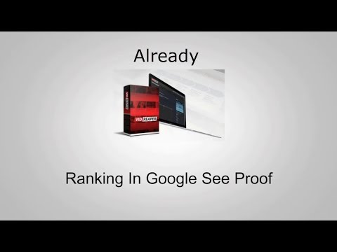 Vid Reaper Case Study - Already Ranking In Google - How to Video