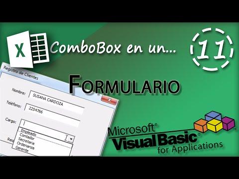 ComboBox en Formulario | VBA Excel 2013 #11