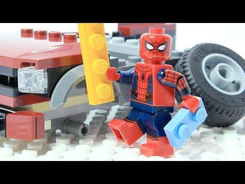 Spiderman Brick Building LEGO CAR Superhero Animation