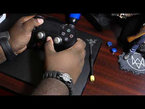 How To Take Apart PS4 V2 Controller Without Breaking glass Filter & Install XB1 Elite Thumbsticks