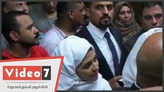 وصول برديس وشاكيرا محكمة شمال الجيزة لمحاكمتهما بتهمة التحريض على الفسق