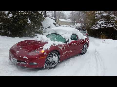 C6 Corvette Michelin X-Ice Snow Tires, Best Snow Tire for Sports Cars