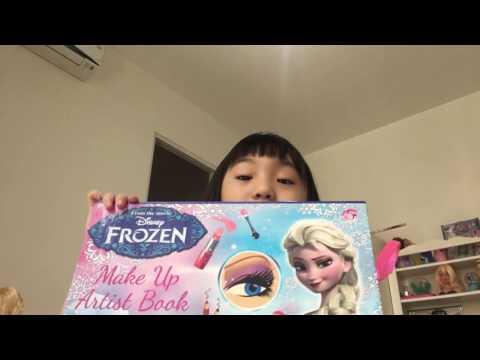 Using frozen make up artist book