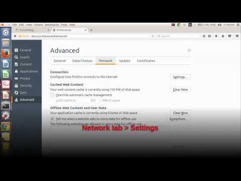 Configure Proxy Settings Firefox