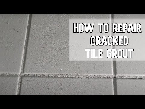 How to repair cracked tile grout DIY video #diy #tile #grout