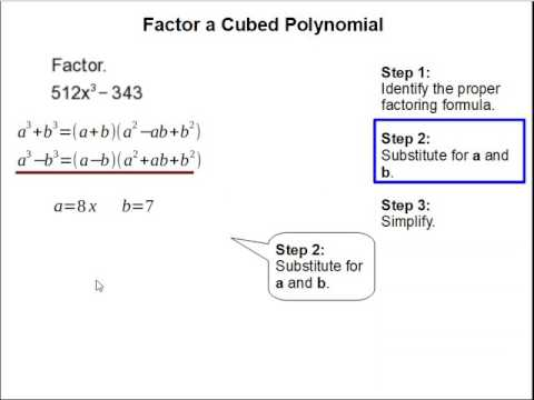 How to Factor a Cubed Polynomial