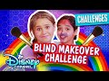 Blindfolded Makeup Challenge 💄 | Ruth & Ruby Ultimate Sleepover | Disney Channel