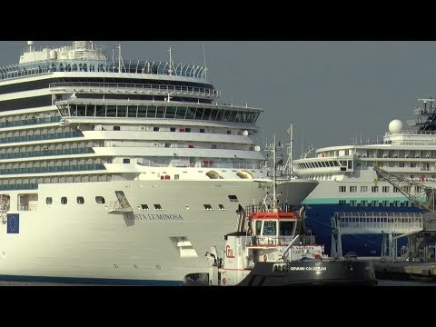 HD   8 CRUISE SHIPS arrive in Venice, Italy   29.07.2017