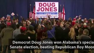 Watch the Moment When Supporters Find Out Doug Jones won Alabama special election