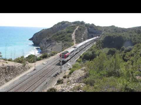 Sitges Spain Rail