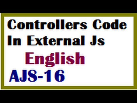 Controllers Code In External Js File In AngularJs In English-vlr training