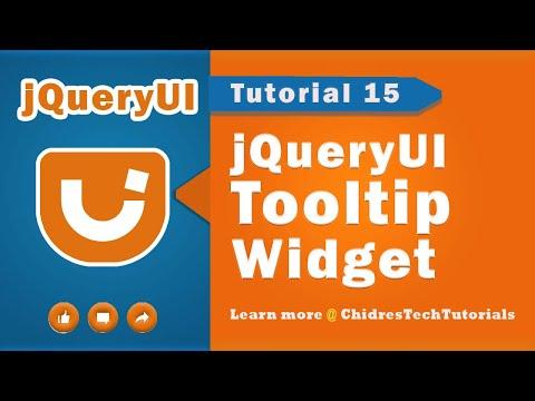jquery ui video tutorial 15 - Creating Tooltip Widget