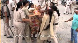 Female police constables beat Indian women