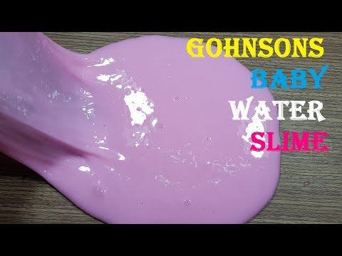 Water Gohnsons Baby Slime No Borax,DIY Gohnsons Baby Water Slime