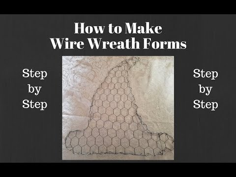 How to Make Wire Wreath Forms, wire wreath forms for mesh wreaths