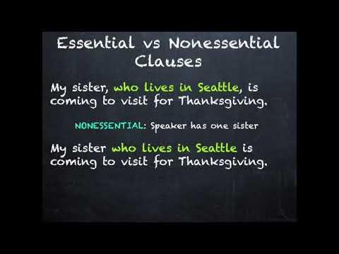 Essential vs Nonessential Information