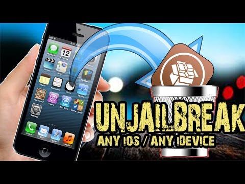 How To Remove / Uninstall / Delete Cydia - Unjailbreak iPhone iPad and iPod ANY iOS