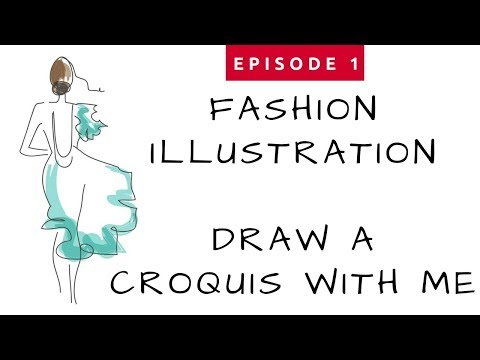 Ep #1 - Fashion Illustration For Beginners - Draw a Croquis with Me
