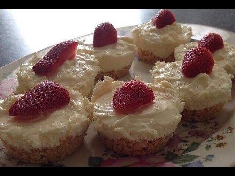 Mini No Bake Lemon Cheesecakes | One Pot Chef