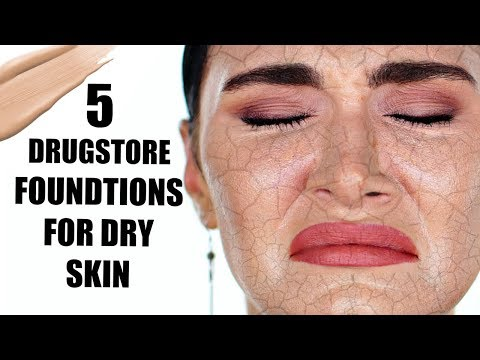TOP 6 DRUGSTORE FOUNDATIONS FOR DRY SKIN - HYDRATING, LUMINOUS & FULL COVERAGE | Ruby Golani
