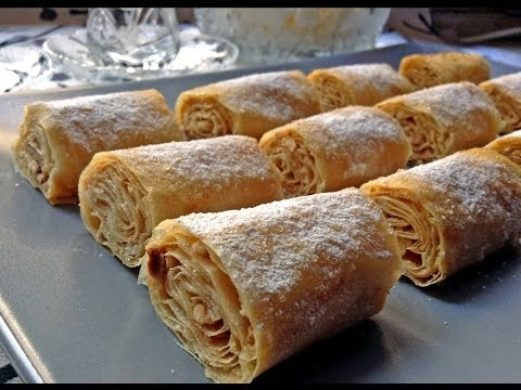 Crunchy Baklava Rolls With Hazelnuts And Tahini