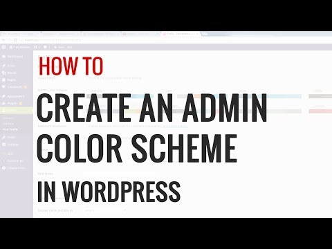 How to Create Custom Admin Color Schemes in WordPress