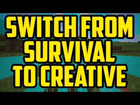 How To Switch From Survival To Creative Mode In Minecraft 1.10 2017 (QUICK & EASY)
