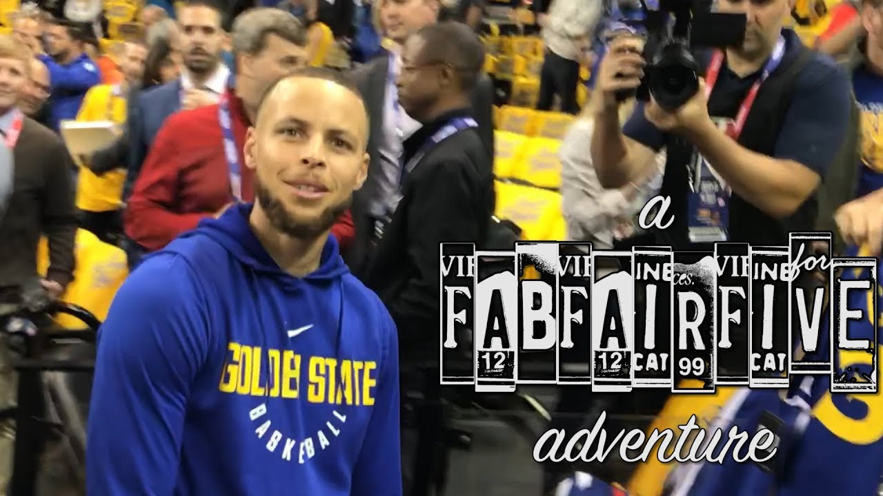 We surprised Stephen Curry at Game One of the 2018 NBA finals