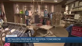 Retailers prepare to reopen Thursday