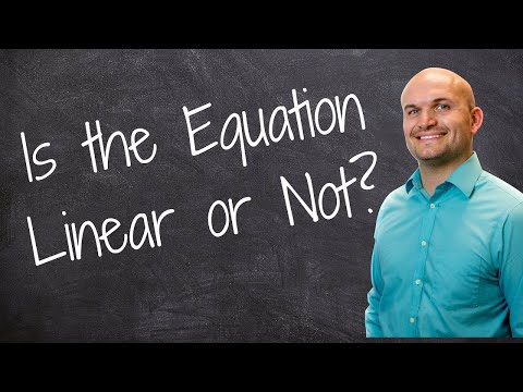 Determining if equations are linear - Free Math Videos - Online Tutor