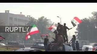 Syria: Damascus residents gather at Umayyad Square to decry US-led airstrikes